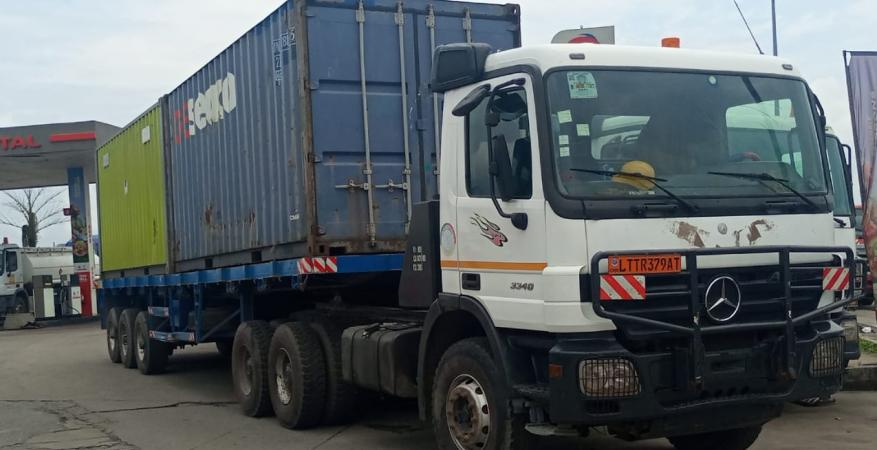 Successful Sea freight shipment to Bangui from Europe